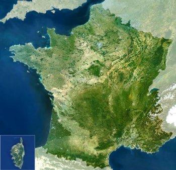 Francia bajo la atenta mirada de mi satélite espía URU-1. Juas, juas, juas...