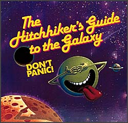 Logo salchichero de Hitchhiker's Guide to the Galaxy