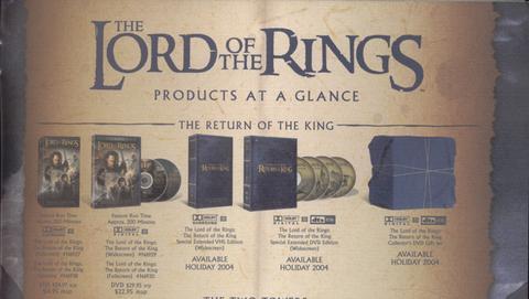 Lote de DVD de El Retorno del Rey
