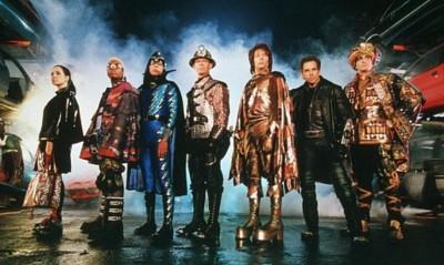 Los Mistery Men: La Lanzadora, El Chico Invisible, La Esfinge, El Zapador, El Flato, Mr. Furioso y El Rajá Azul