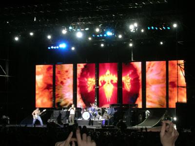 Foto sacada en el Concierto de Santiago 2004