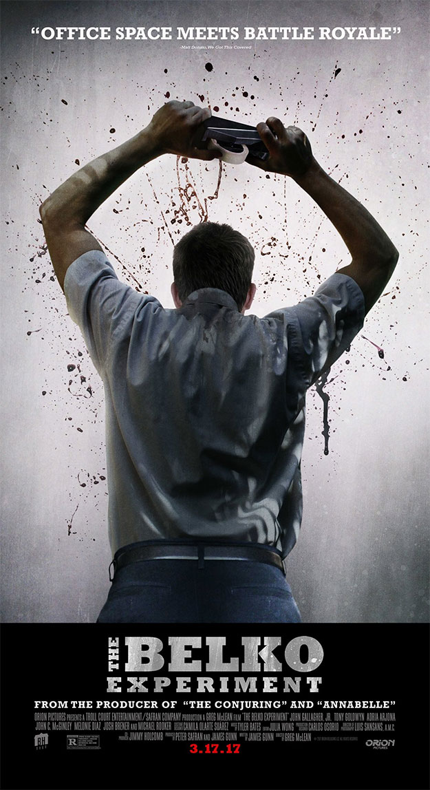 Cartel molón y salvaje de The Belko Experiment