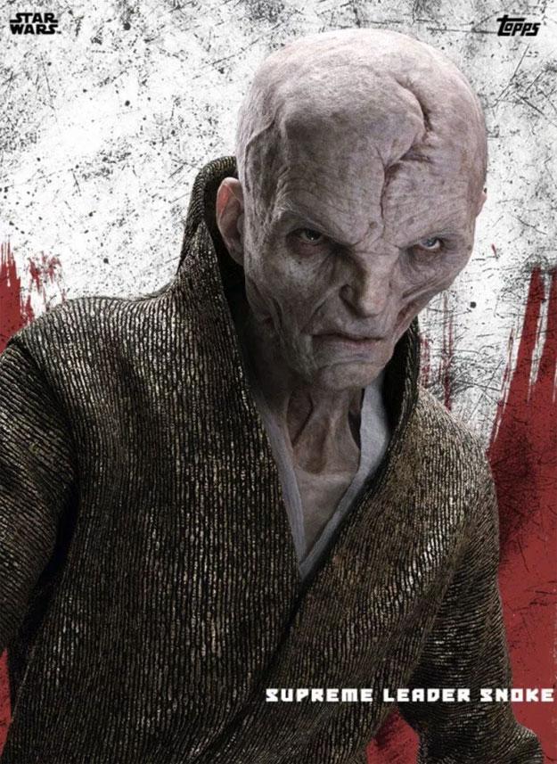El líder supremo Snoke de Star Wars