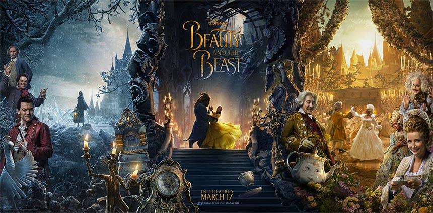 Otro cartel largo de La bella y la bestia