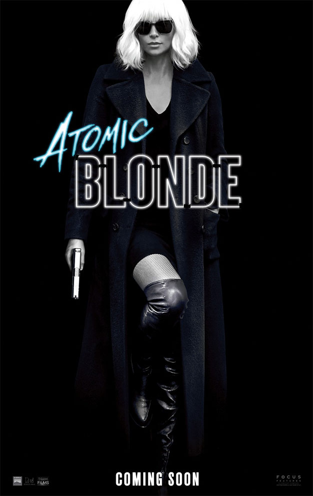 Cartel de Atomic Blonde... fiesta