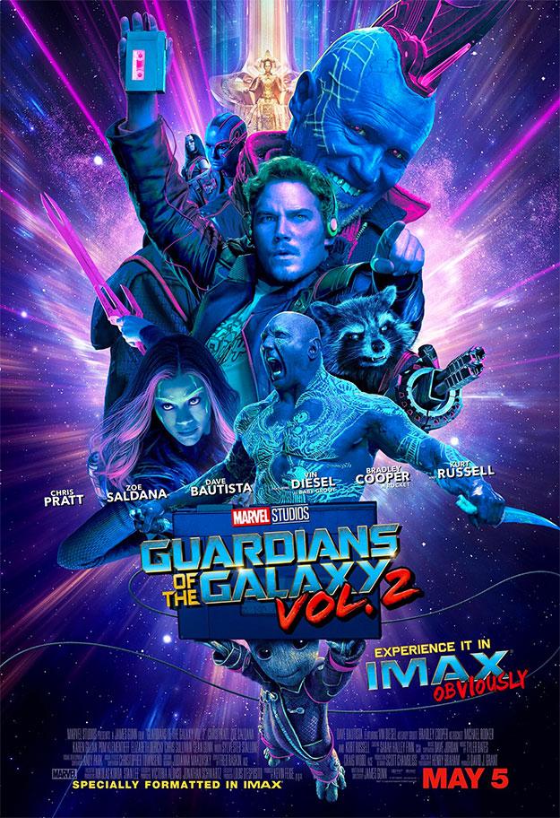 Para disfrutar el nuevo cartel de Guardianes de la Galaxia Vol. 2