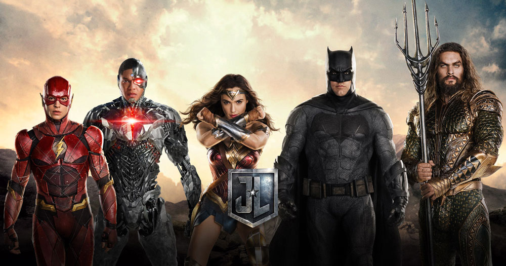 ¡The Flash, Cyborg, Wonder Woman, Batman y Aquaman... La Liga de la Justicia!