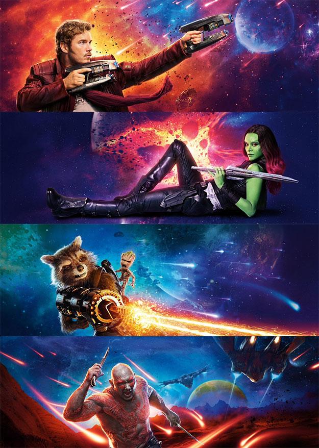 Coloreada promoción de Guardianes de la Galaxia Vol. 2