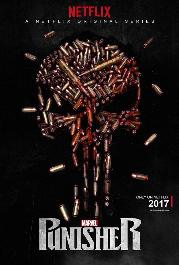 "Primer cartel de ""Marvel's Punisher"" de Netflix"