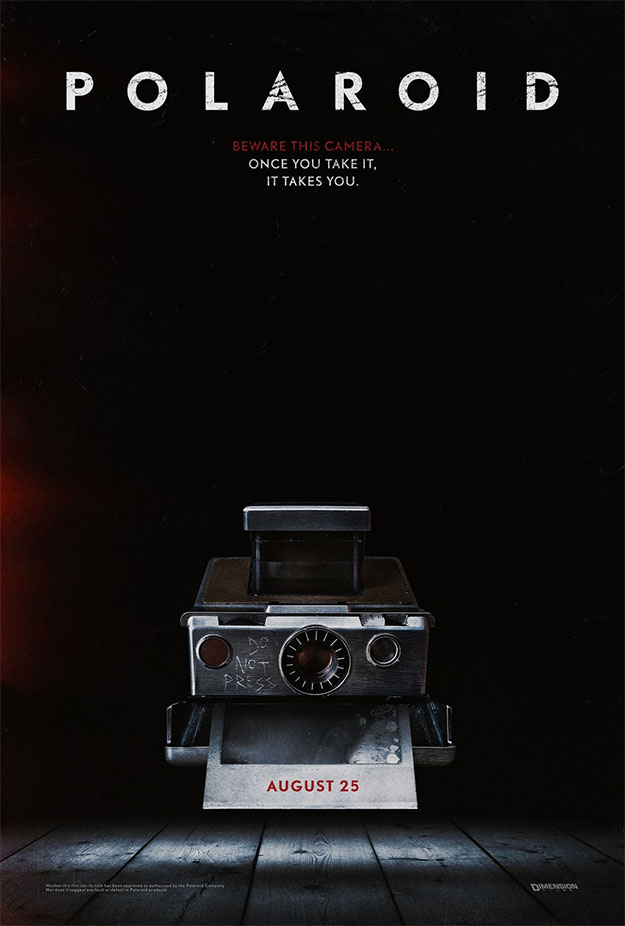Primer cartel de Polaroid, el The Ring de las cámaras de fotos
