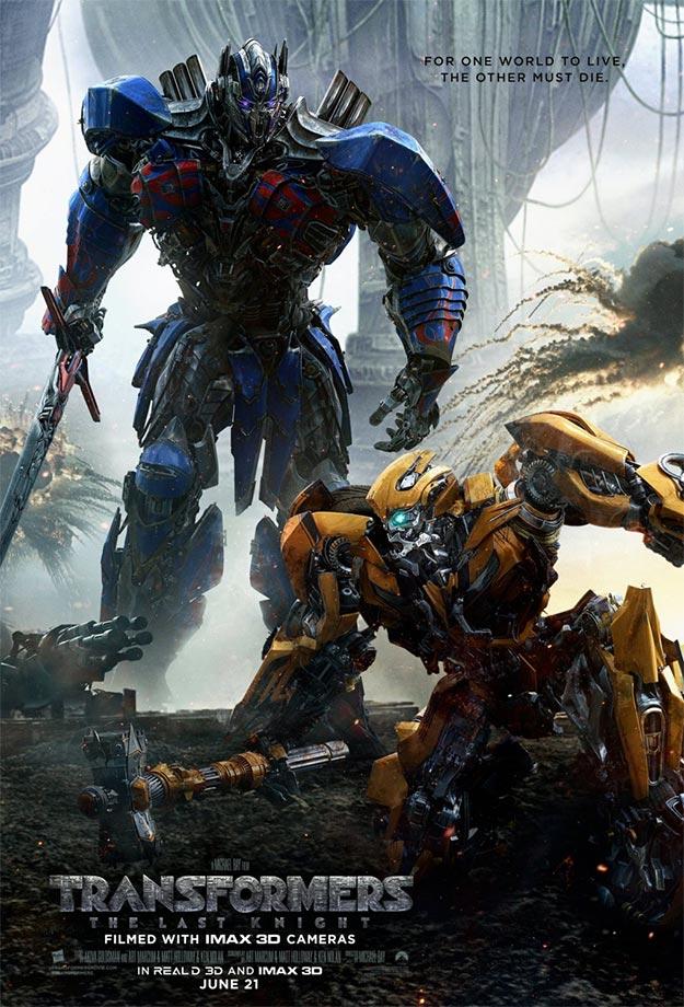 El nuevo cartel de Transformers: el último caballero es más de lo mismo