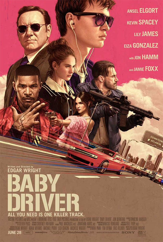 Genial  cartel de Baby Driver
