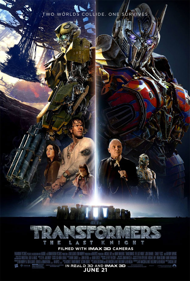 Horrible cartel de Transformers: el último caballero