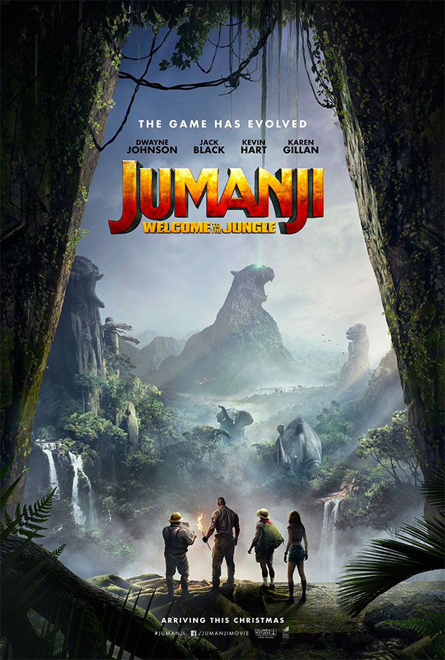 Un primer cartel de Jumanji: bienvenidos a la jungla