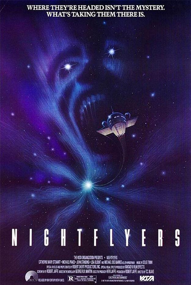 Cartel viejuno de Nightflyers, sí, ya fue adaptada al cine
