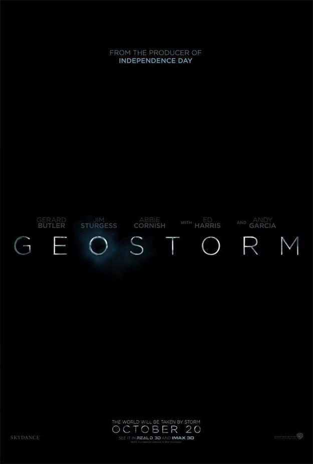 El primer cartel de Geostorm no puede ser más simple