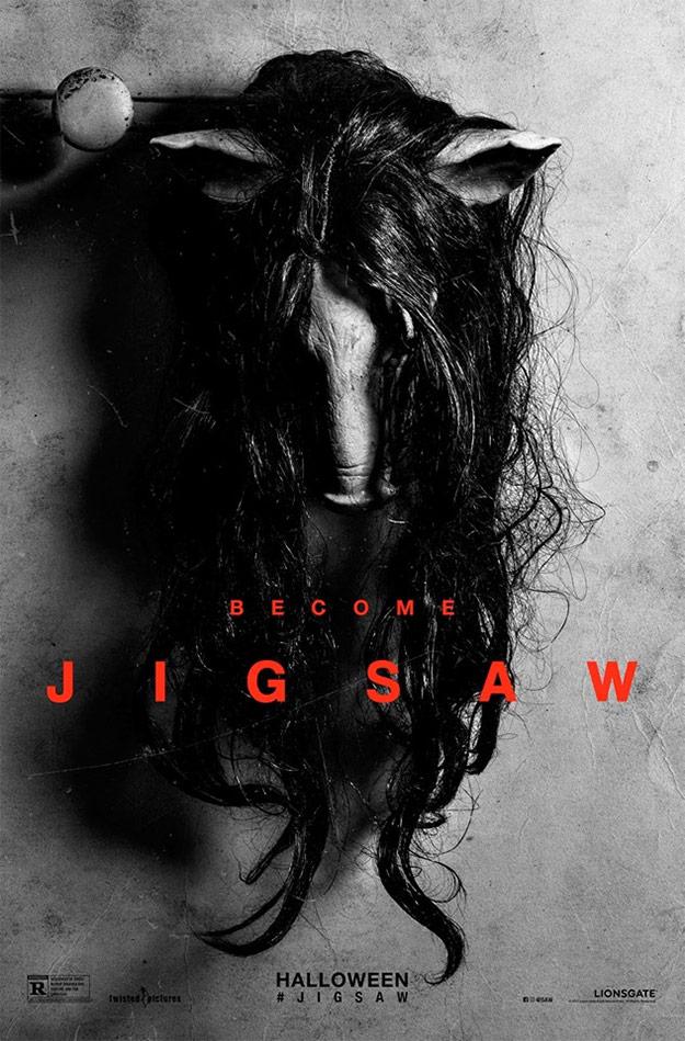 El primer cartel de Jigsaw AKA Saw nosecuantos