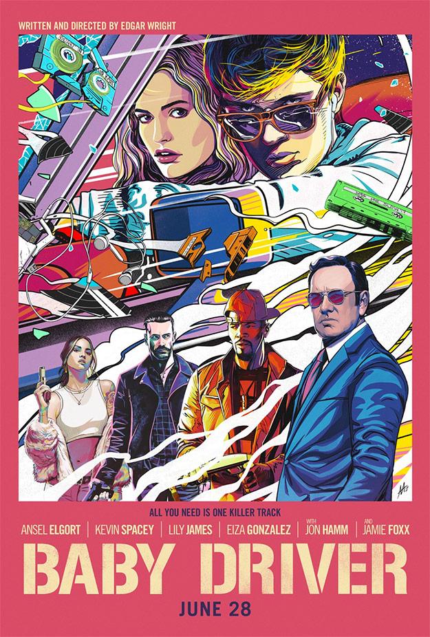 El último póster molón de Baby Driver