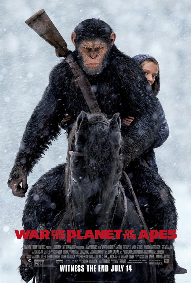 El cartel final de La Guerra del Planeta de los Simios, dicen que cine con mayúsculas