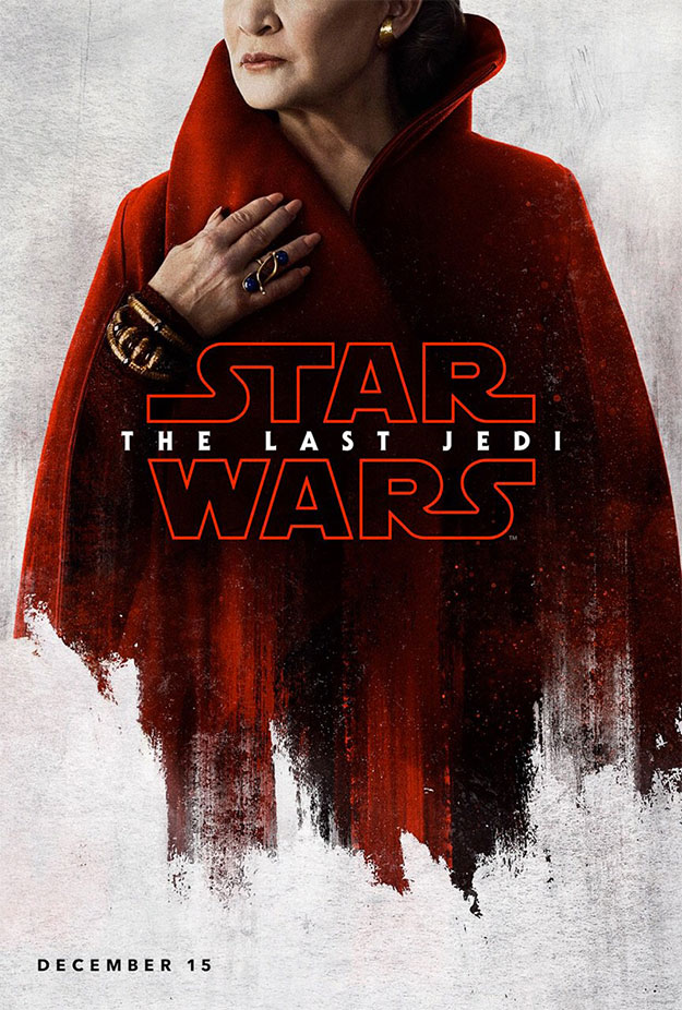Carteles de personaje de Star Wars: Los Últimos Jedi