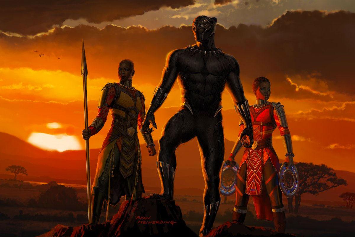 Concept art de Black Panther obra de Ryan Meinerding