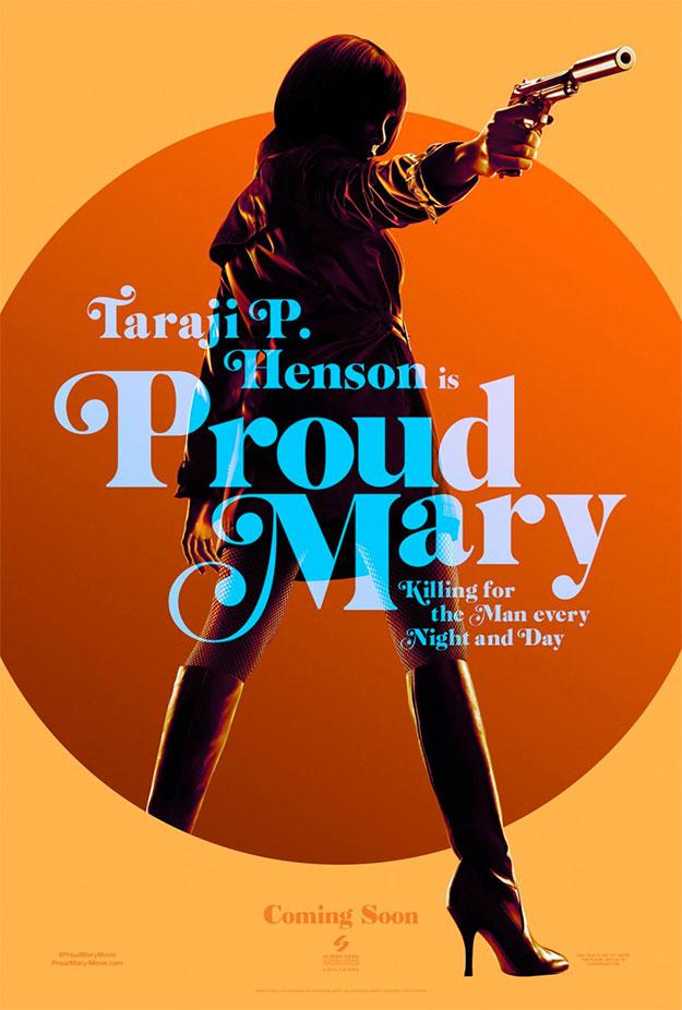 Vieja escuela en este cartel de Proud Mary