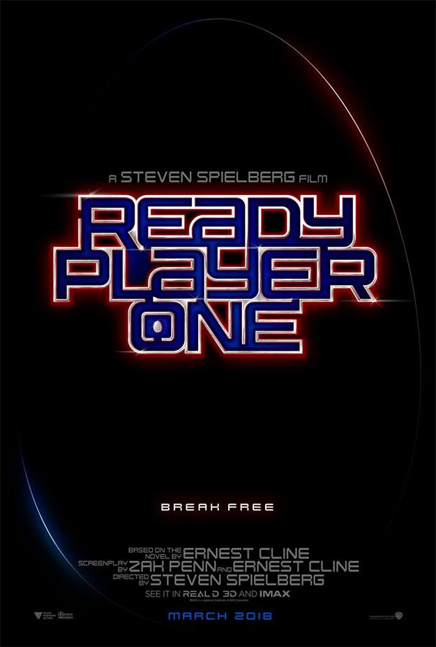 Un cartel bastante simple para presentar Ready Player One