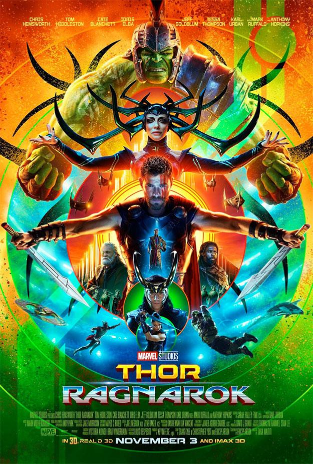 Color a raudales en el nuevo cartel de Thor: Ragnarok