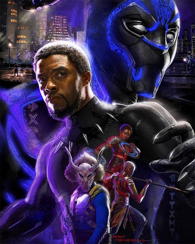 Concept art de Black Panther por Ryan Meinerding presentado en la Comic-Con 2017