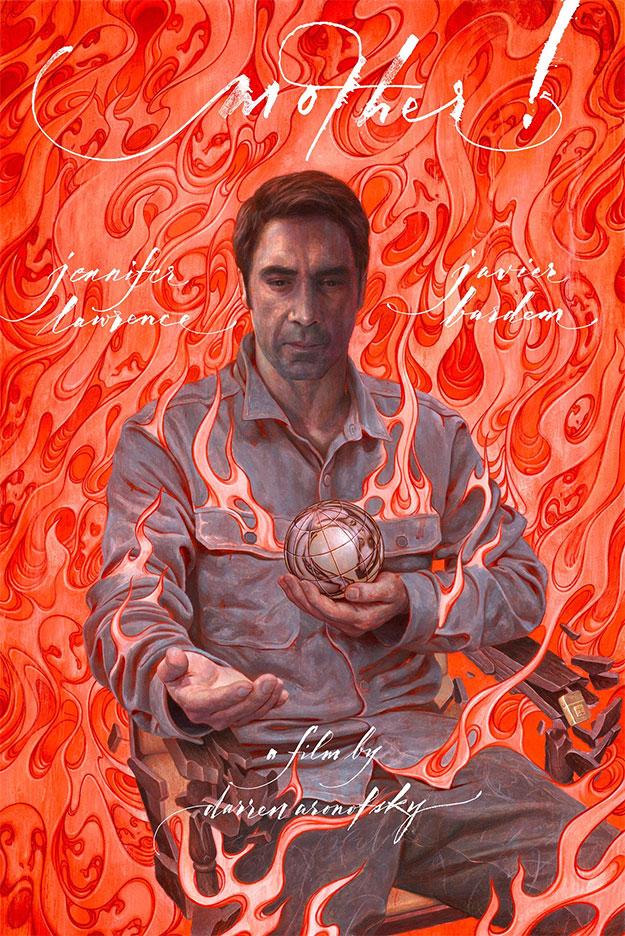 el nuevo cartel de madre! de Darren Aronofsky da el protagonismo a Javier Bardem