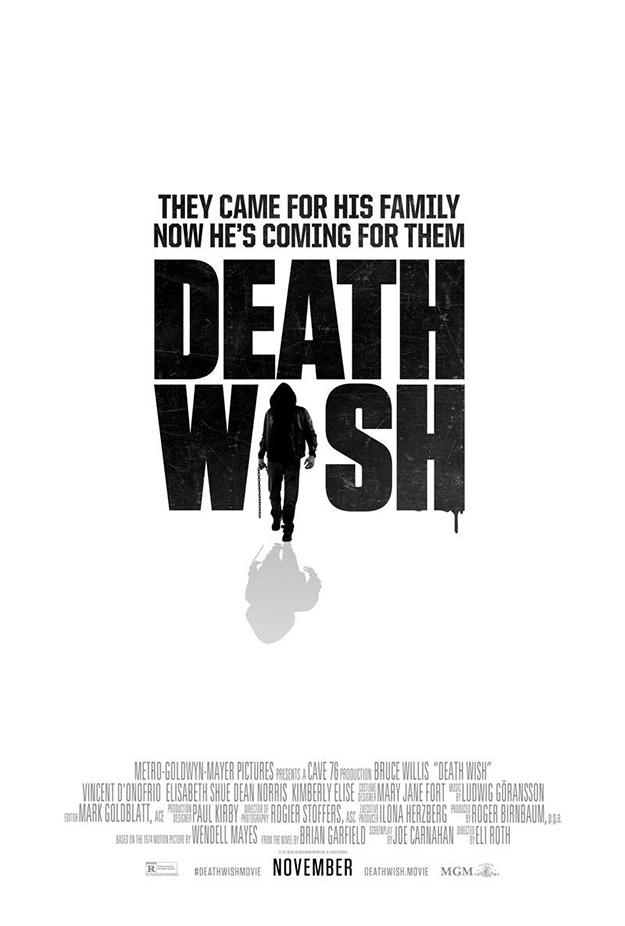 Simple, muy simple, el primer cartel de Death Wish