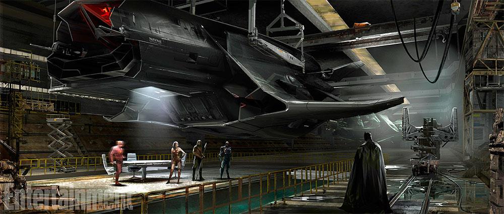 Glorioso concept art de Liga de la Justicia: el Flying Fox