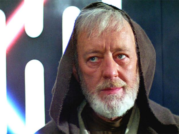 Sir Alec Guiness como Obi-Wan Kenobi