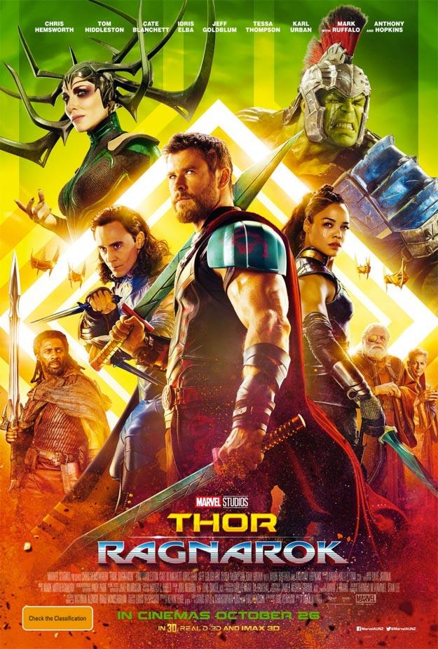 Más brillo y color para este cartel Thor: Ragnarok