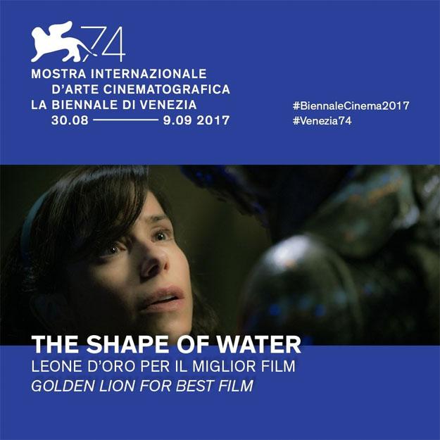 La Forma del Agua, León de Oro al mejor film de La Biennale di Venezia