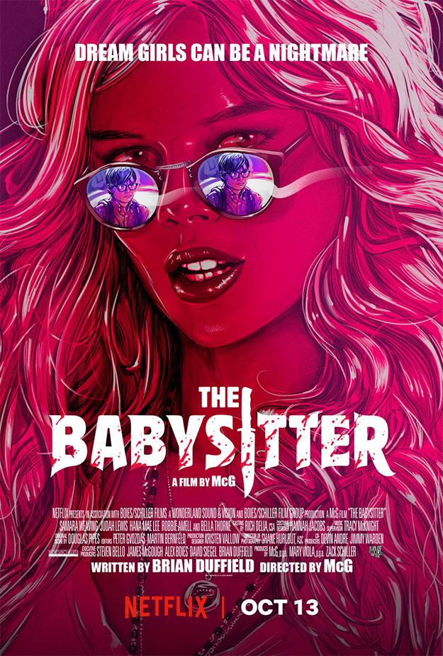 Rojo sangre para este cartel de The Babysitter