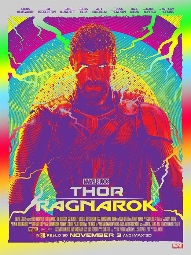 Cartel de Thor: Ragnarok multicolor