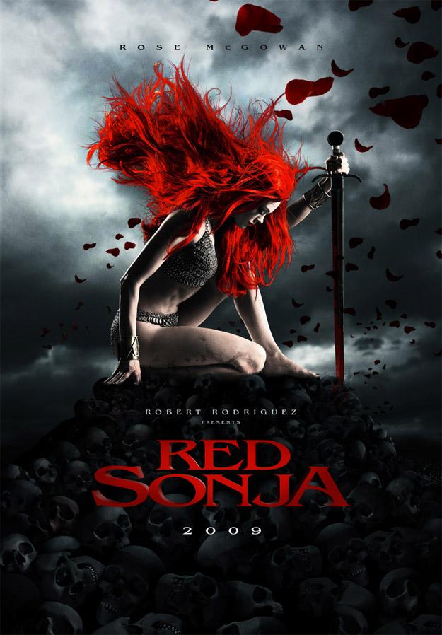 Otro de los carteles propuesta de la Red Sonja de Robert Rodriguez