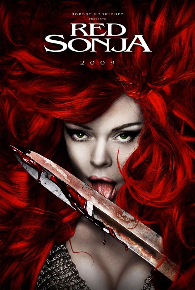 Uno de los carteles propuesta de la Red Sonja de Robert Rodriguez