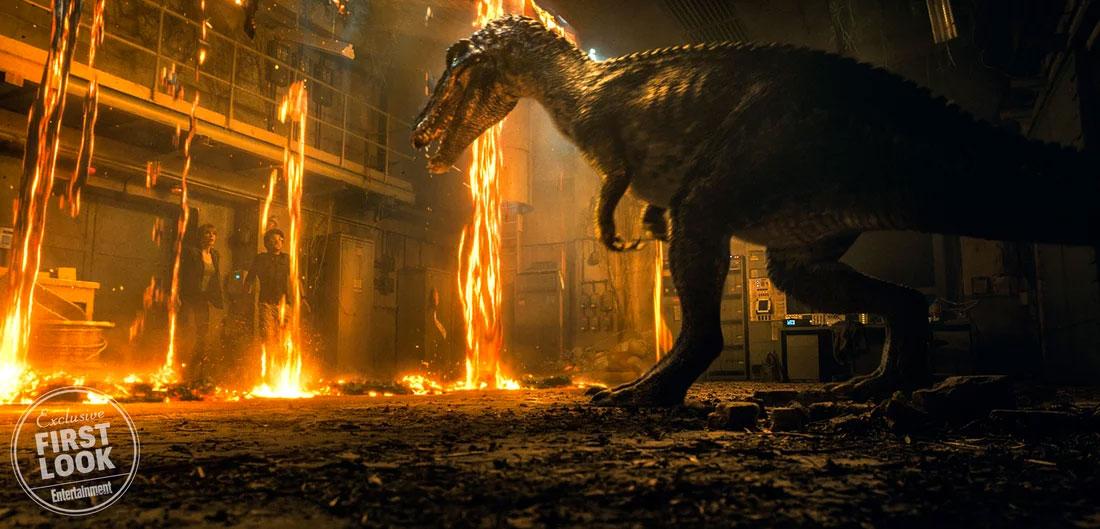 Adelanto en modo foto al trailer de mañana... lava, humanos y un dinosaurio