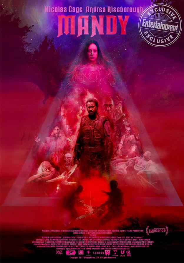 Primer cartel de Mandy con Nicolas Cage