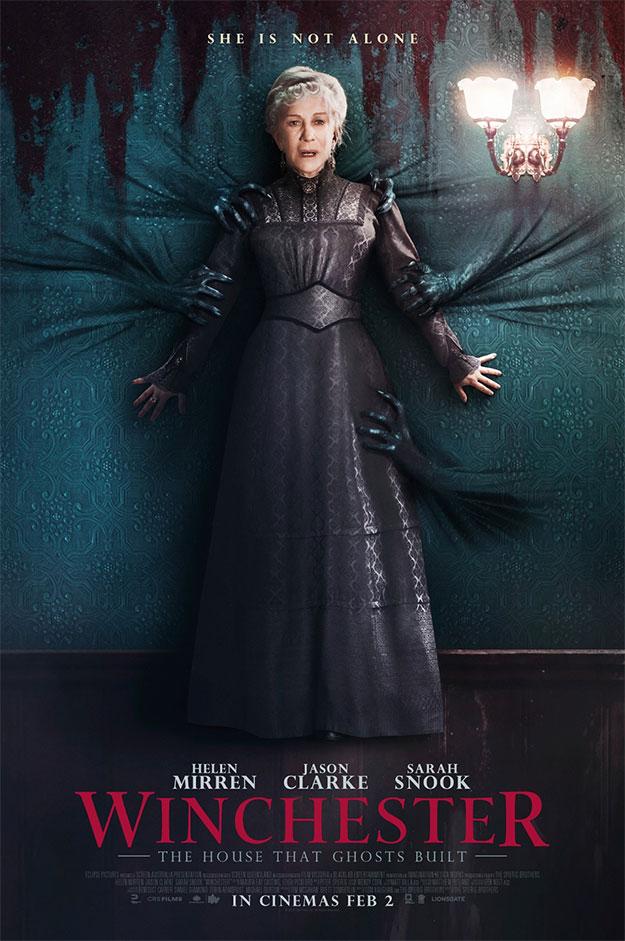 La cara de susto de Hellen Mirren en este nuevo cartel de Winchester: The House that Ghost Built da miedo