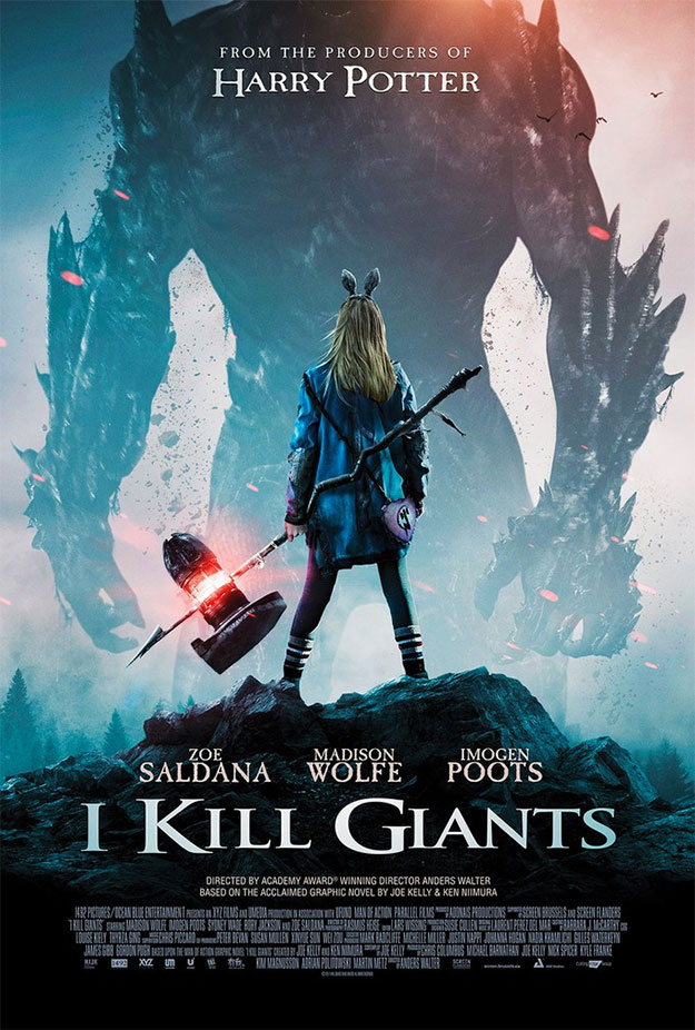 Brutal cartel de I Kill Giants... lo dicho, flipante