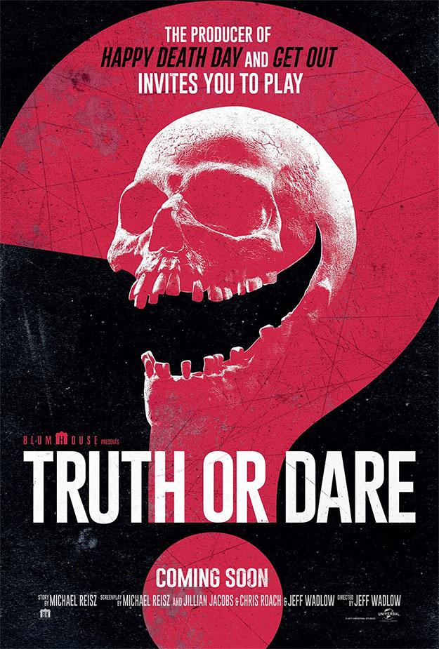 Cartel de Truth or Dare de Jeff Wadlow y Blumhouse