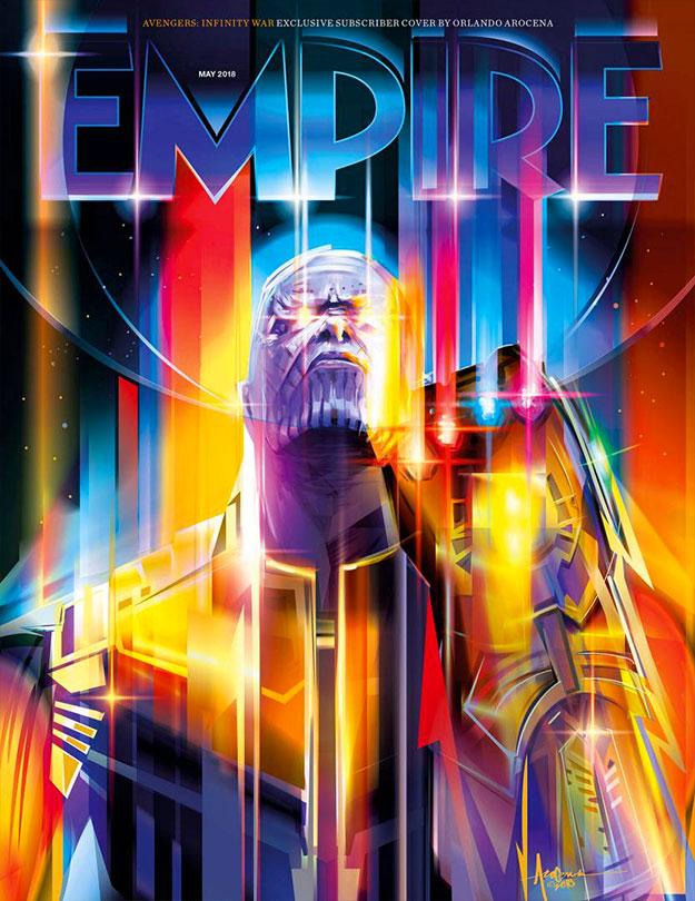 La portada especial Empire para Vengadores: Infinity War