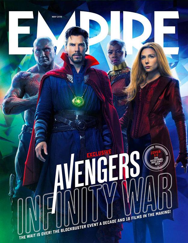 portada especial Empire para Vengadores: Infinity War