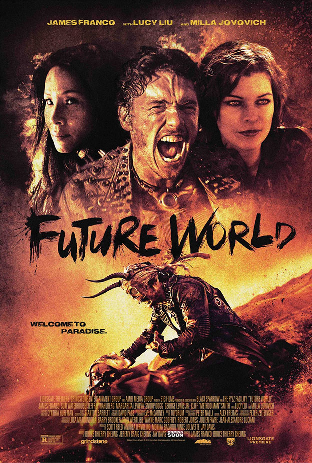 Otro cartel de ese film inconcebible que es Future World... reparto total