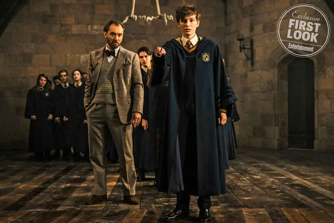 Scamander y Dumbledore en Fantastic Beasts: The Crimes of Grindelwald
