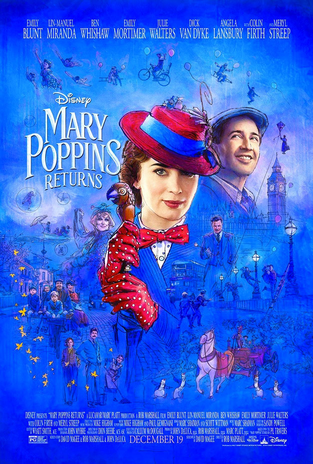 Cartel de El regreso de Mary Poppins