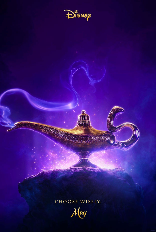 Primer cartel de Aladdin, notable